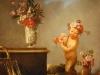 Giulio Carpioni (1613-1679), Faun s maskou, zátišie a dva kvetináče, Ca´Rezzonico, Benátky
