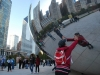 The Polished Steel Bean, Millenium Park, Chicago, Illinois