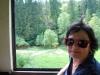 Čiernohronská železnica - za oknom zelená krajina