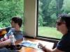 Čiernohronská železnica - pohľad v smere jazdy