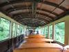 Čiernohronská železnica - sparťanský interiér vagóna