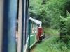 Čiernohronská železnica - vykláňam sa z okna