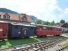 Čiernohronská železnica, vagóny na stanici v Čiernom Balogu