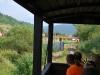 Čiernohronská železnica, vchádzame na štadión v Dobroči