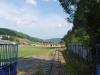 Čiernohronská železnica, otvorená brána na futbalové ihrisko v Dobroči