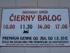 Čiernohronská železnica, cestovný poriadok