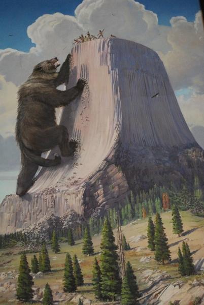 Legenda o medveďovi a indiánoch, Devils Tower