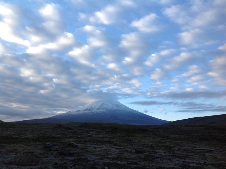 Sopka Cotopaxi ráno, Ekvádor