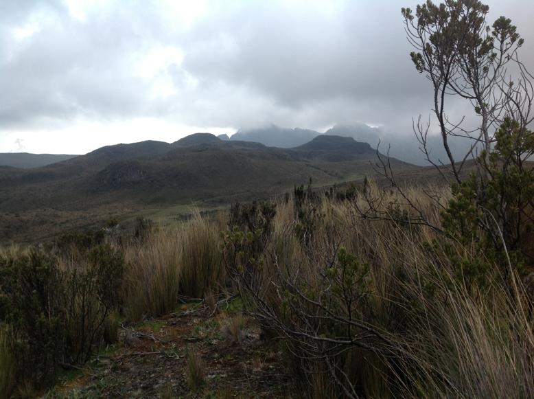 Svahy sopky Ruminahui v Národnom parku Cotopaxi, Ekvádor