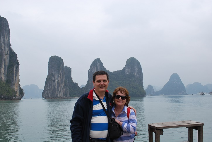 Spolu v Ha Long Bay, Vietnam