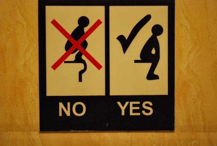 Návod ako správne používať záchod, Vietnam