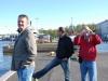 Ľubo, Tondo a Dušan v helsinskom prístave