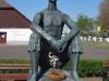 Pastier, bronzová socha, autor Árpád Szomogyi, 1968, Hortbágy, Maďarsko