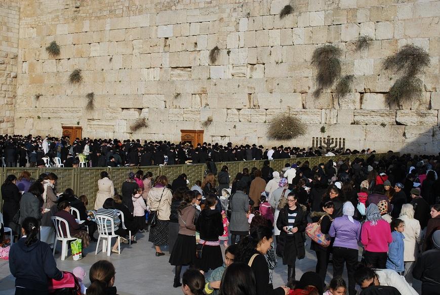 Ľudia pri Múre nárekov, Jeruzalem