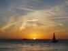 Západ slnka v Starom prístave, Key West, Florida