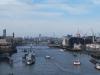 Pohľad na Temžu z The Tower Bridge, London