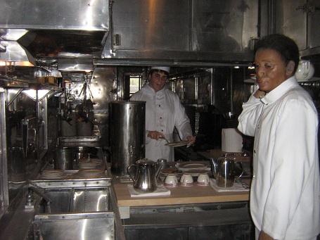 Kuchyňa v jedálenskom vozni, Railroad Museum, Old Sacramento