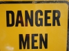 Tabuľka varuje, Winslow, Historic Route 66, Arizona