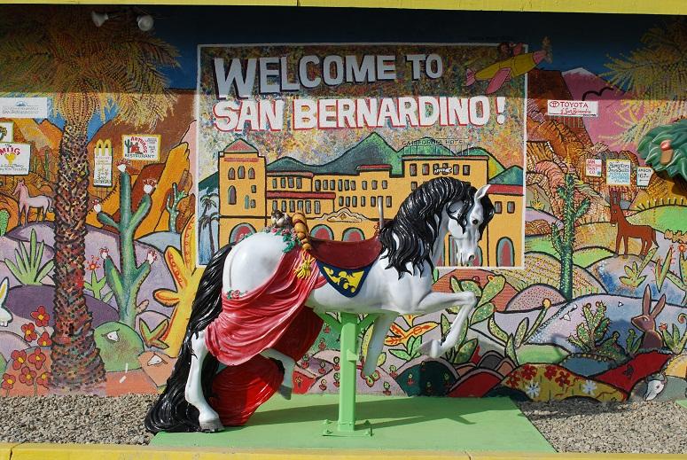 Hojdací koník v San Bernardino na Route 66, California