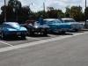 Staré autá odpočívajú na Route 66, California