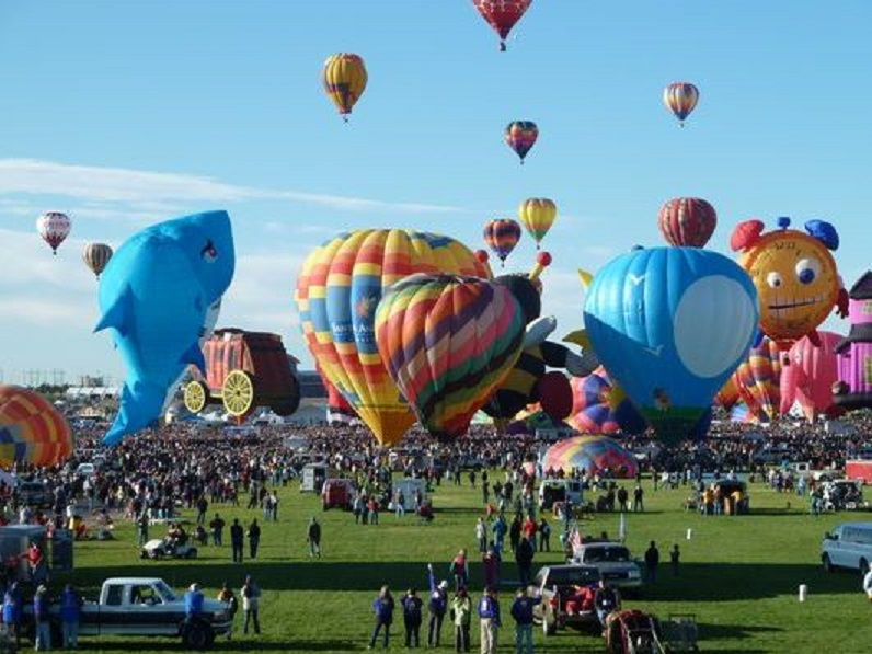 Balónová fiesta v Albuquerque, New Mexico