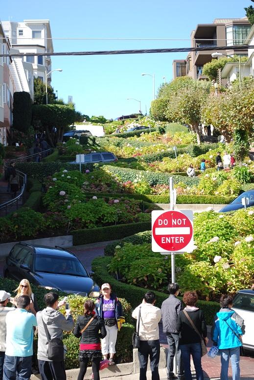 San Francisco, Kľukatá Lombard Street