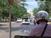 Pohľad z paluby tuktuku, Siem Reap, Kambodža