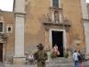 Živá socha na Piazza IX. Aprile, Taormina, Sicilia