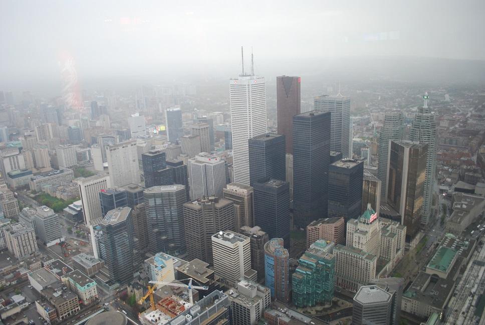 Toronto z televíznej veže