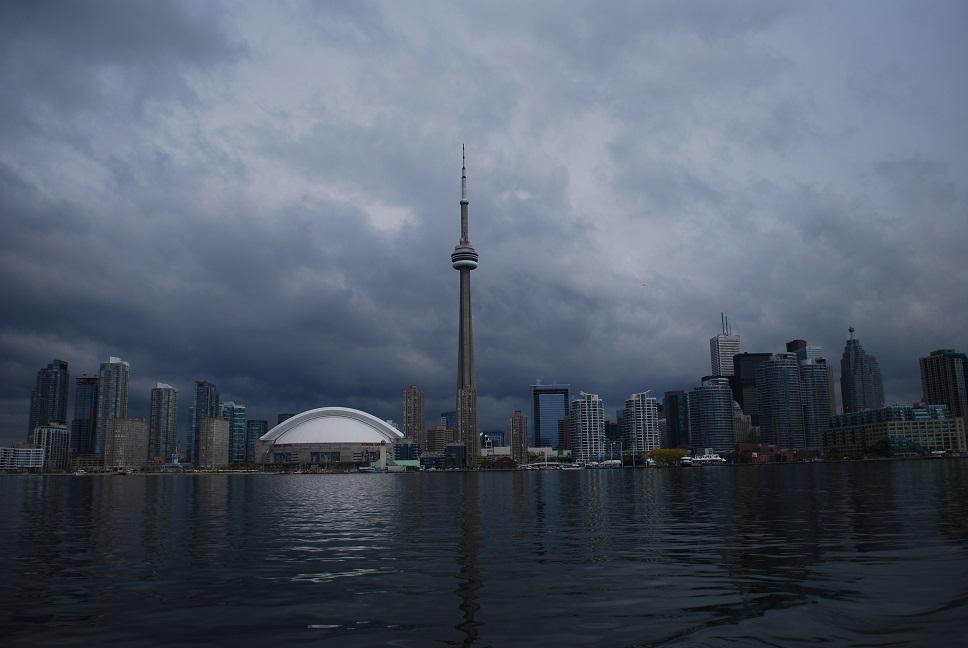 Výhľad z Toronto Islands na centrum Toronta
