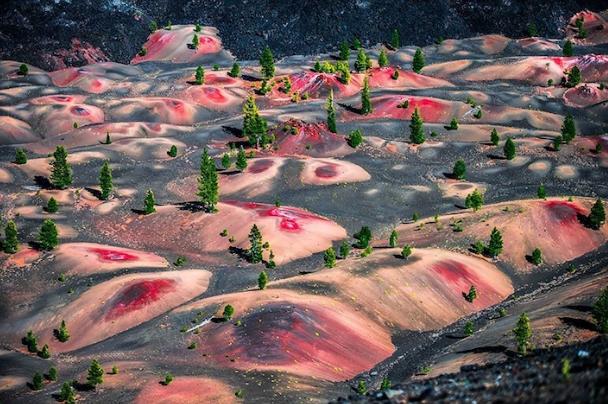 Maľované duny v Lassen Volcanic National park