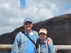 My na okraji krátera sopky Vezuv