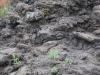 Stuhnutá láva na sopke Vezuv