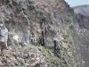 Sopka Vezuv - stena v kráteri
