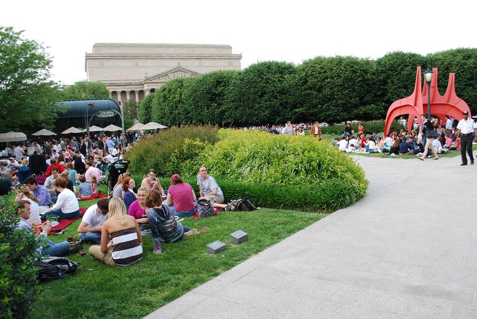 Piknik pri počúvaní džezu, Washington, D.C.