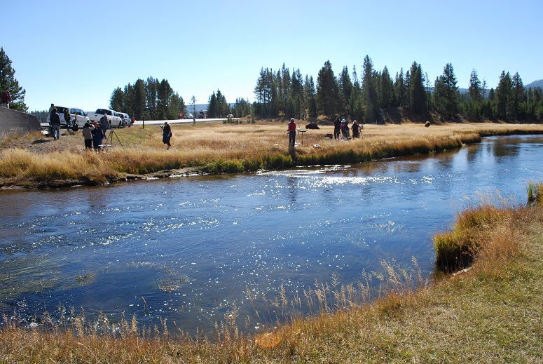 Maliari na Gibbon River, Yellowstone National Park, USA
