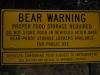 Výstražná tabuľa, Yosemite National Park, Kalifornia