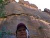 Pod skalnou stenou, Zion National Park, Utah