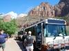 Vyhliadkový autobus, Zion National Park, Utah