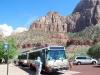 Autobusová zastávka, Zion National Park, Utah