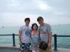 Smelý Zajko s rodinou, Balatón, Maďarsko