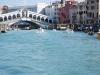 Veľký kanál, v pozadí most Rialto, Benátky