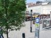 Budapešť, autobusová zastávka pri tržnici