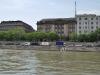 Budapešť, schody do Dunaja