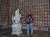 Smelý zajko pri soche v Ca´ d´Oro, Benátky