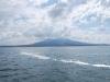 Sopka Vezuv z Neapolského zálivu