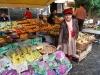 Pekný karfiol na trhu, Catania, Sicilia