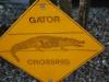 Dopravná značka, Aligator Farm, Florida, USA