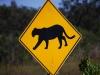 Dopravná značka, Everglades, Florida, USA