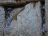Papieriky s motlitbami pri Múre nárekov, Židovská štvrť, Jeruzalem